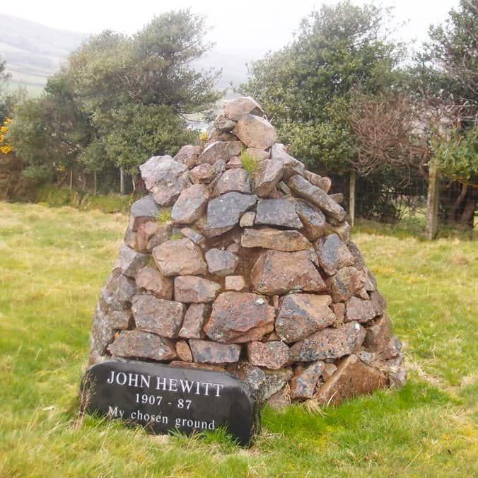 John Hewitt Poet Memorial Cairn 696x696