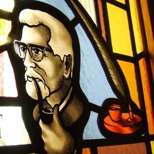 John Hewitt Poet Stained Glass 300x300 001